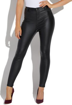 9636f1b45c1 HIGH WAISTED FAUX LEATHER SKINNY PANT