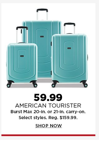 59.99 american tourister burst 20-in or 21-in carry on. shop now.