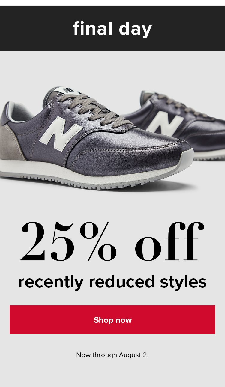 Shop 25% Off Recently Reduced Styles