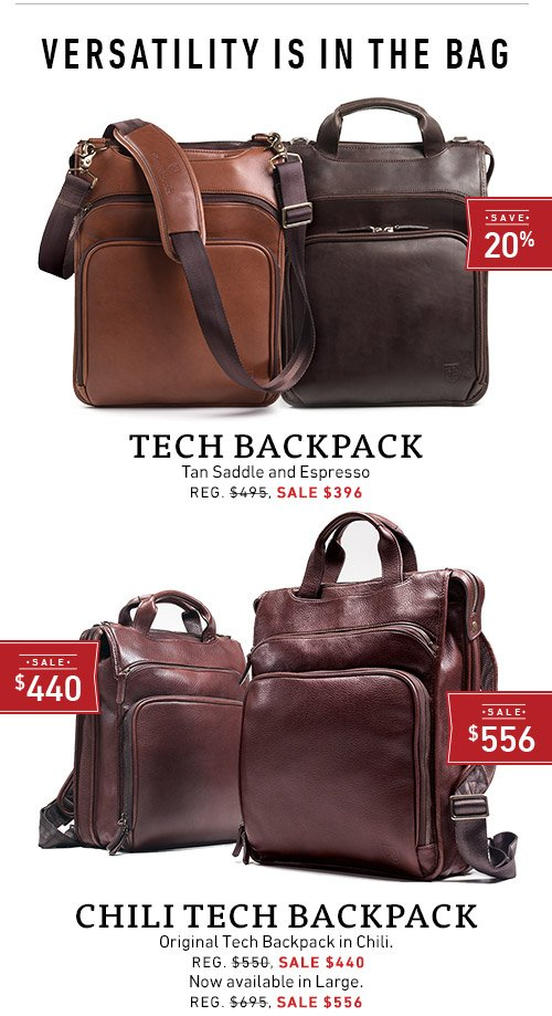 Save 20% on the Tech Backpack