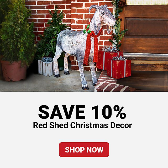 Red Shed Decor