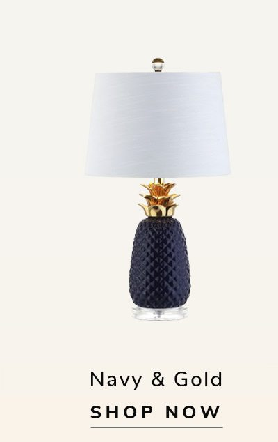 Pineapple Lamp Navy & Gold | SHOP NOW