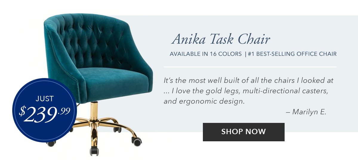 Anika Tufted Upholstered Task Chair   SHOP NOW