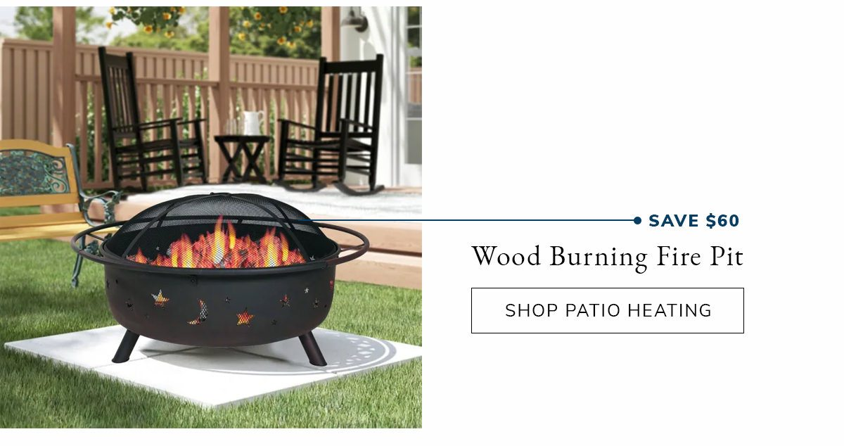 Wood Burning with Charcoal Grill and Screen Fire Pit | SHOP NOW
