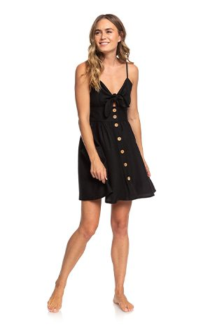 Product 3 - Under The Cali Sun Knot-Front Strappy Dress - Anthracite