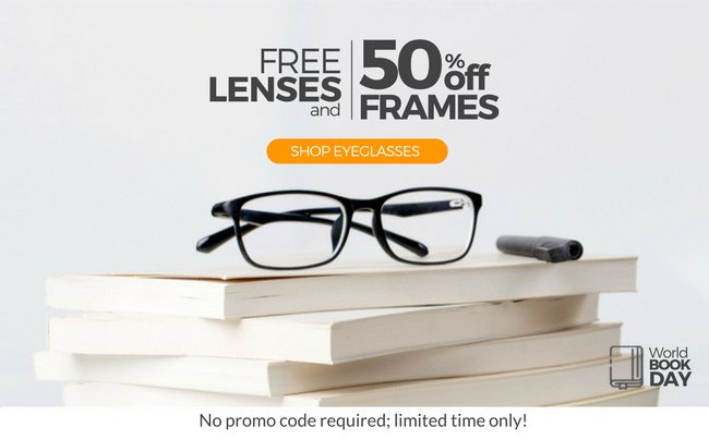 b722e43ed8 It s World Book Day! Keep reading with new glasses  50% off frames + ...