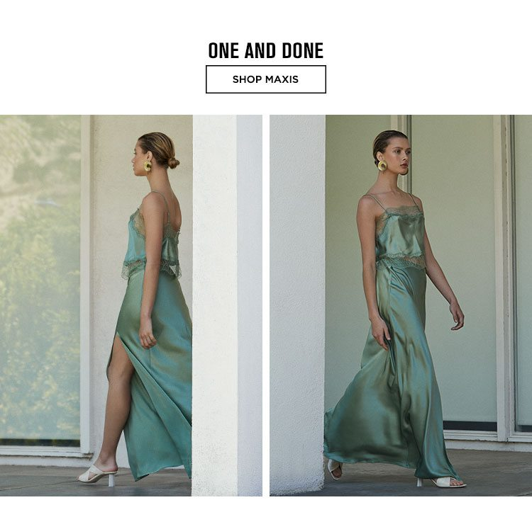 One and Done - Shop Maxis