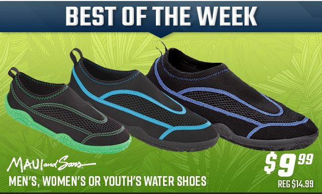 $9.99 Maui \u0026 Sons Water Shoes + More in