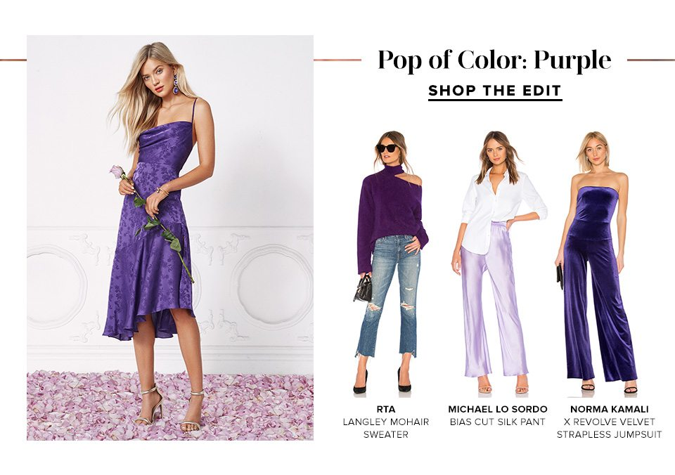 POP OF COLOR: PURPLE