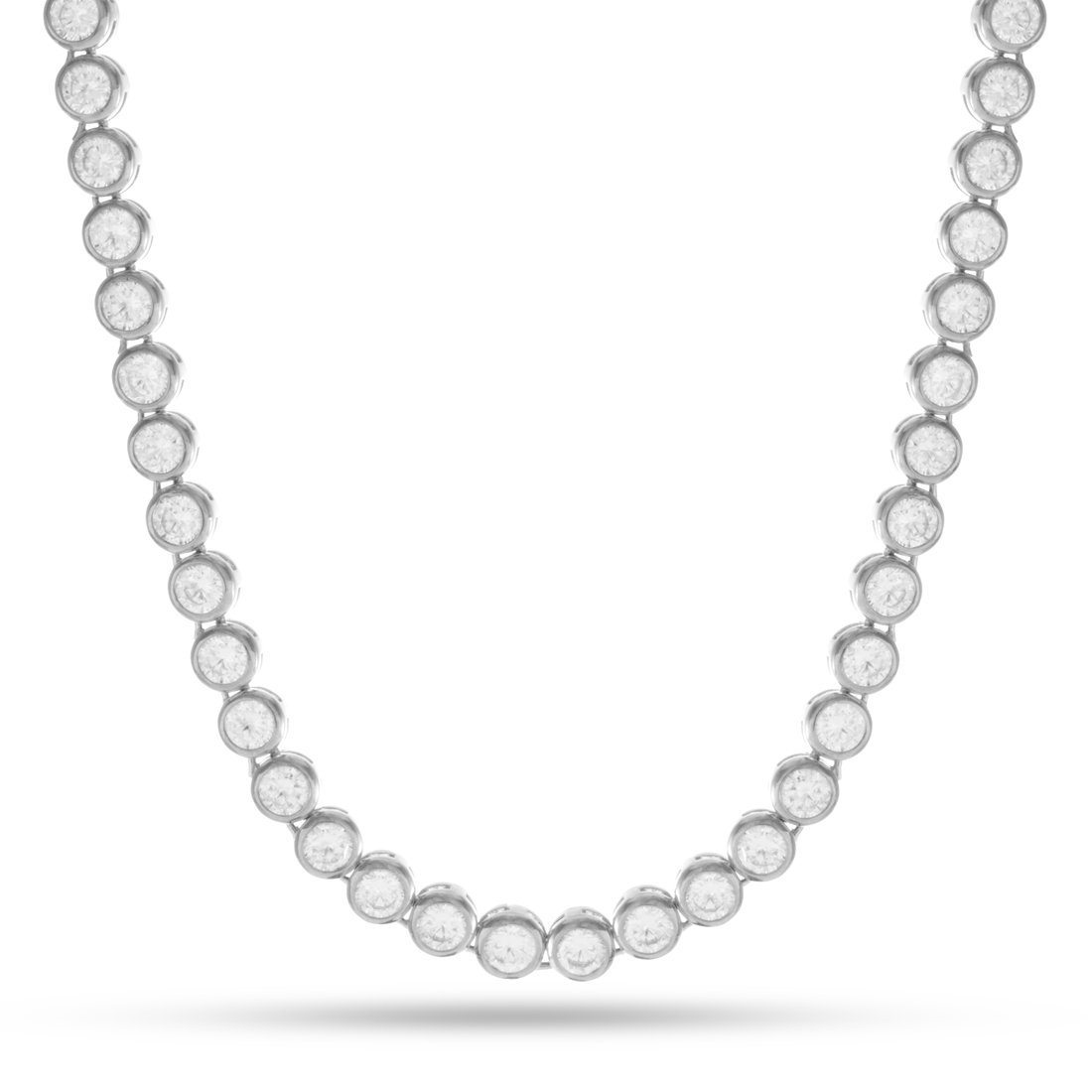 Image of 6mm The White Gold Bezel Necklace