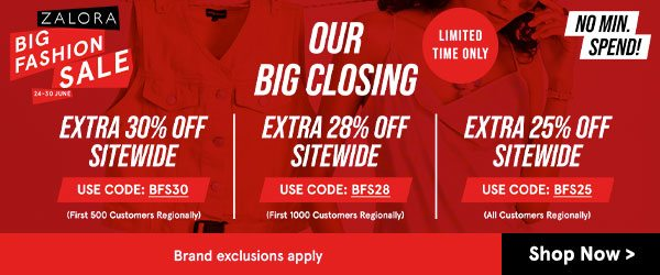 Our Big Closing SALE!