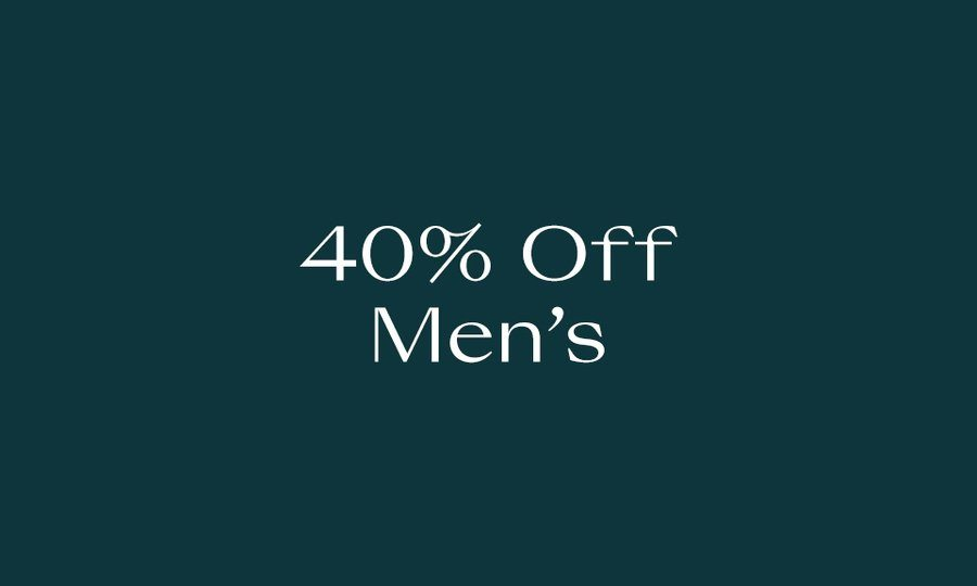 40% Off Men's Must-Haves