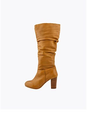 SOPHIE LEATHER SLOUCH BOOTS