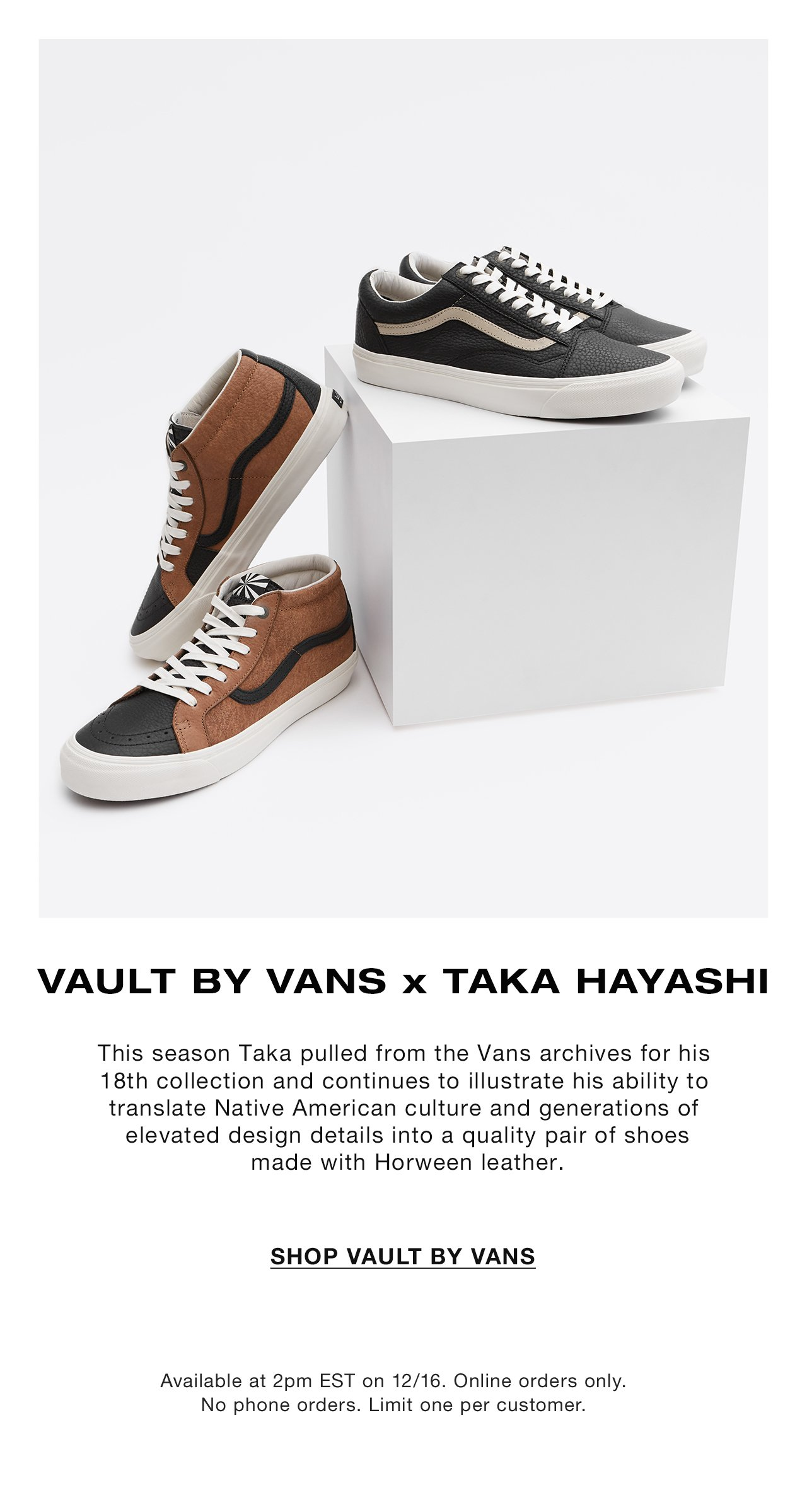 336219c9be Special Release  Vault by Vans x Taka Hayashi - Need Supply Co ...