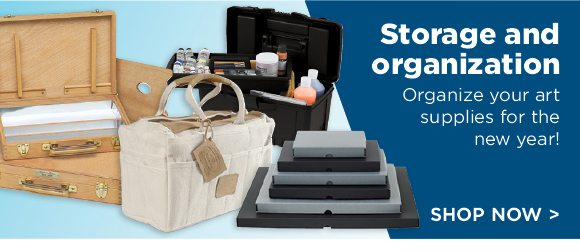 Storage and Organization - Organize your art supplies for the new year!