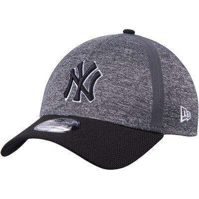 New York Yankees New Era Clubhouse 39THIRTY Flex Hat - Heathered Gray/Black