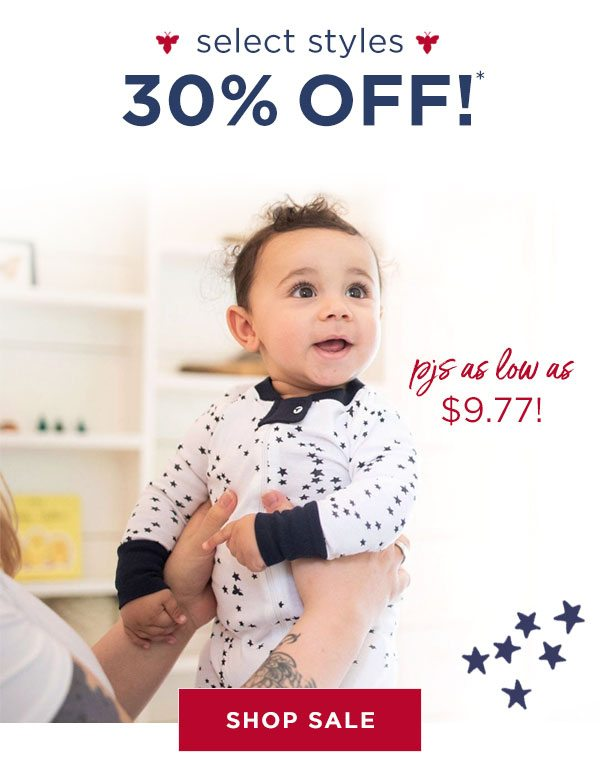 Select styles 30% off!