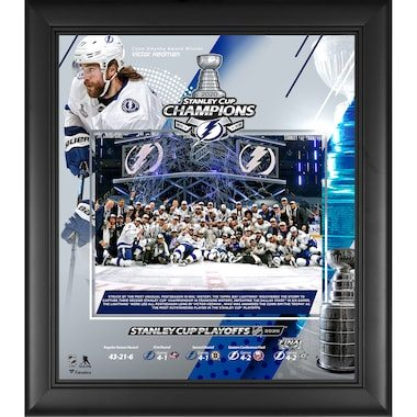 """Fanatics Authentic Tampa Bay Lightning Framed 15"""" x 17"""" 2020 Stanley Cup Champions Collage"""