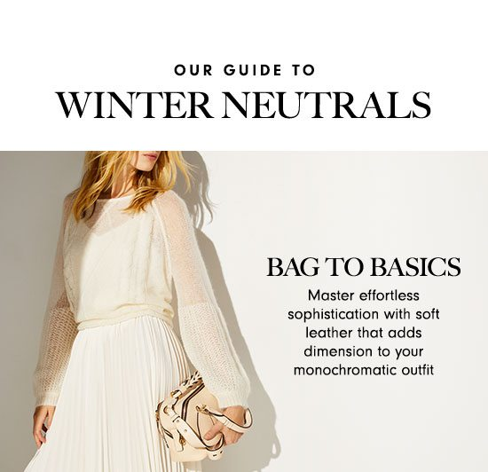 Our Guide to Winter Neutrals