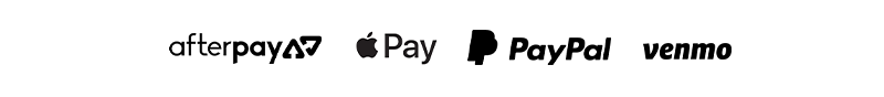 now accepting- afterpay   apple pay   paypal   venmo