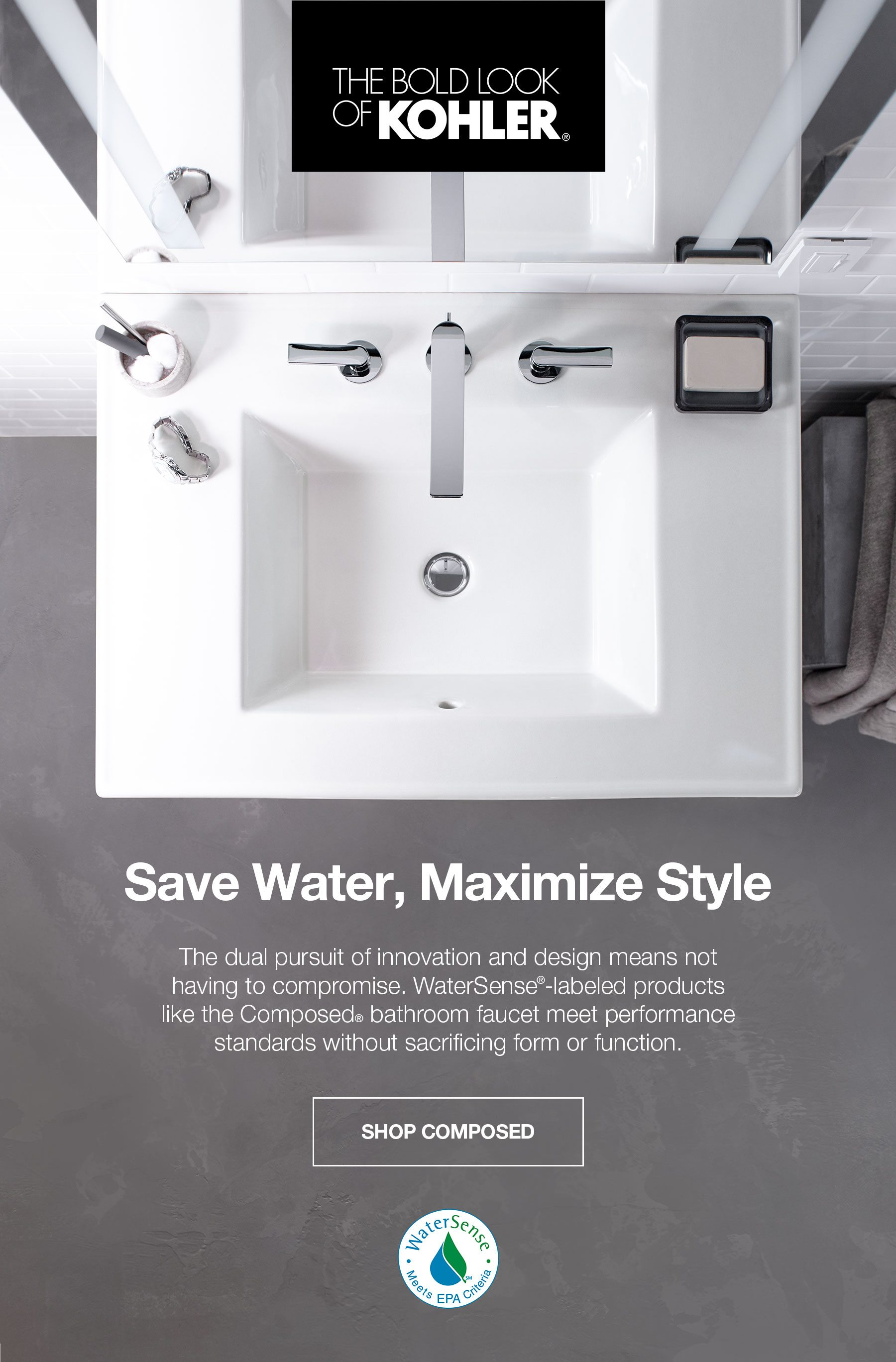 COMPOSED WATERSENSE FAUCET