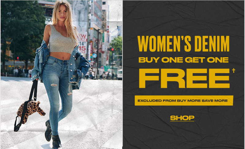 womens denim BOGO free - Shop