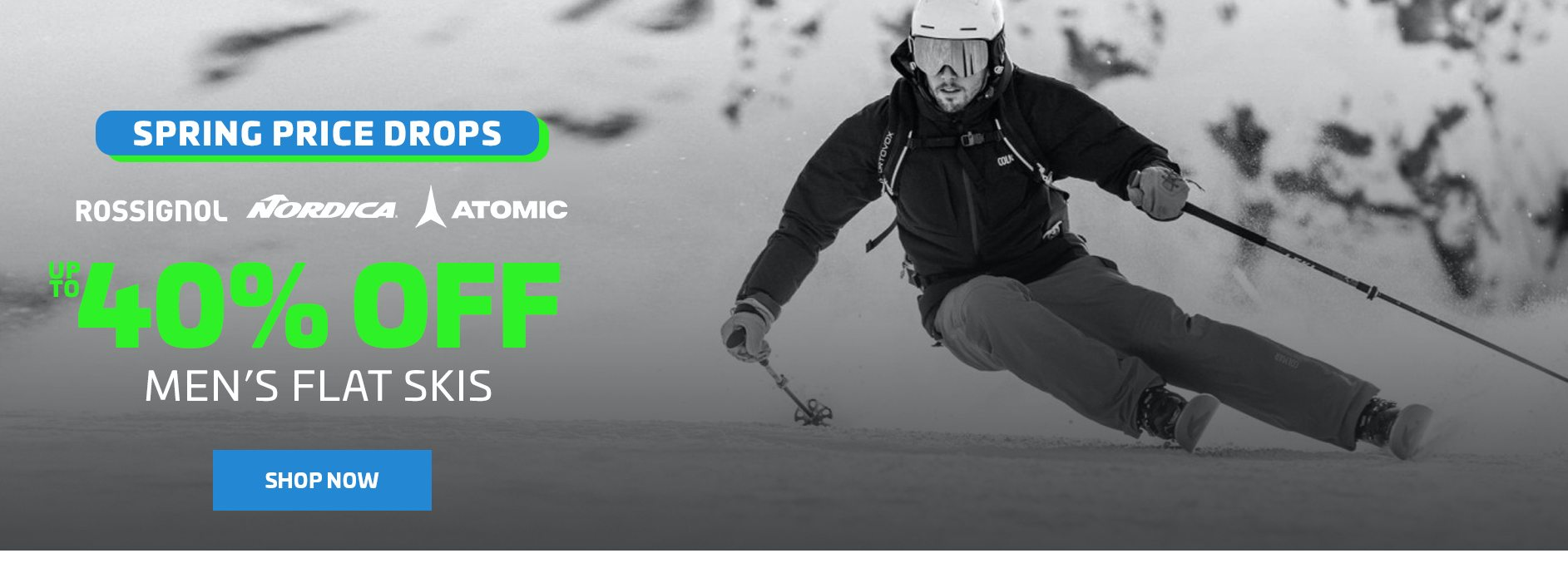 UP TO 40% OFF MEN'S FLAT SKIS - FOOTER
