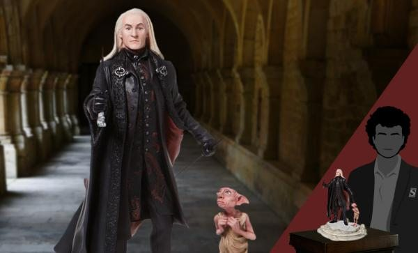 Lucious Malfoy with Dobby Figurine by Enesco