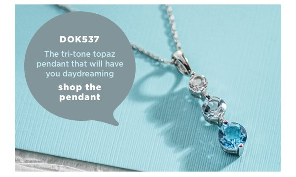 The tri-tone topaz pendant that will have you daydreaming