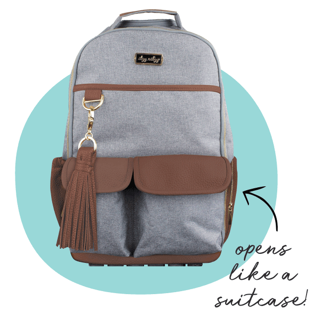 Itzy Ritzy® Boss Backpack Diaper Bag. Opens like a suitcase!