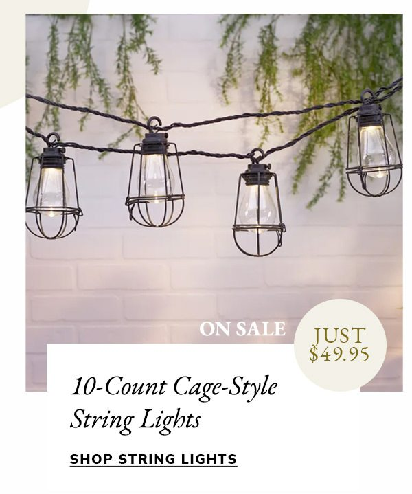 10-Count Cage-Style String Lights | SHOP NOW