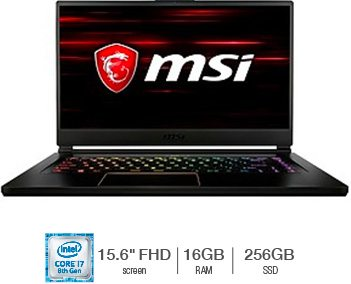 MSI® GS65 Gaming Laptop featuring Intel Core i7-8750H Processor *8GB GeForce® GTX 1070 Graphics