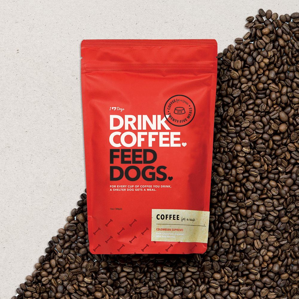 "Image of ""Drink Coffee. Feed Dogs."" Colombian Supremo Coffee (12 oz.)"