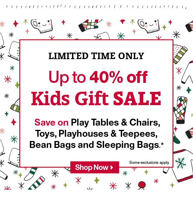 Shop Up to 40% off Kids Gift Sale