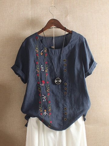 Bohemian Embroidery Summer T-Shirt