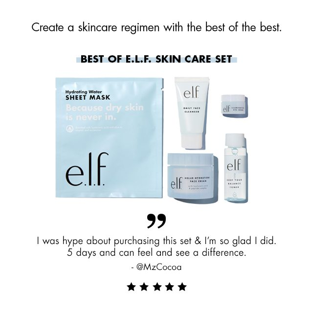 Best of elf skincare