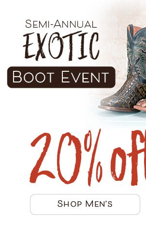 578c9865212 Save 20% On All Exotic Boots! Shop The Semi-Annual Sale ...