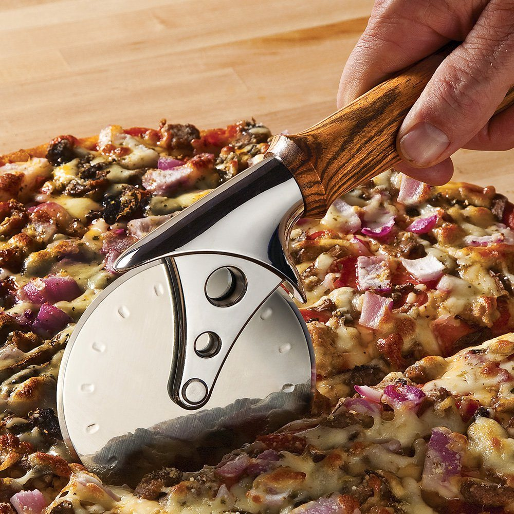 Rockler Stainless Steel Pizza Cutter Turning Kit, Chrome Finish