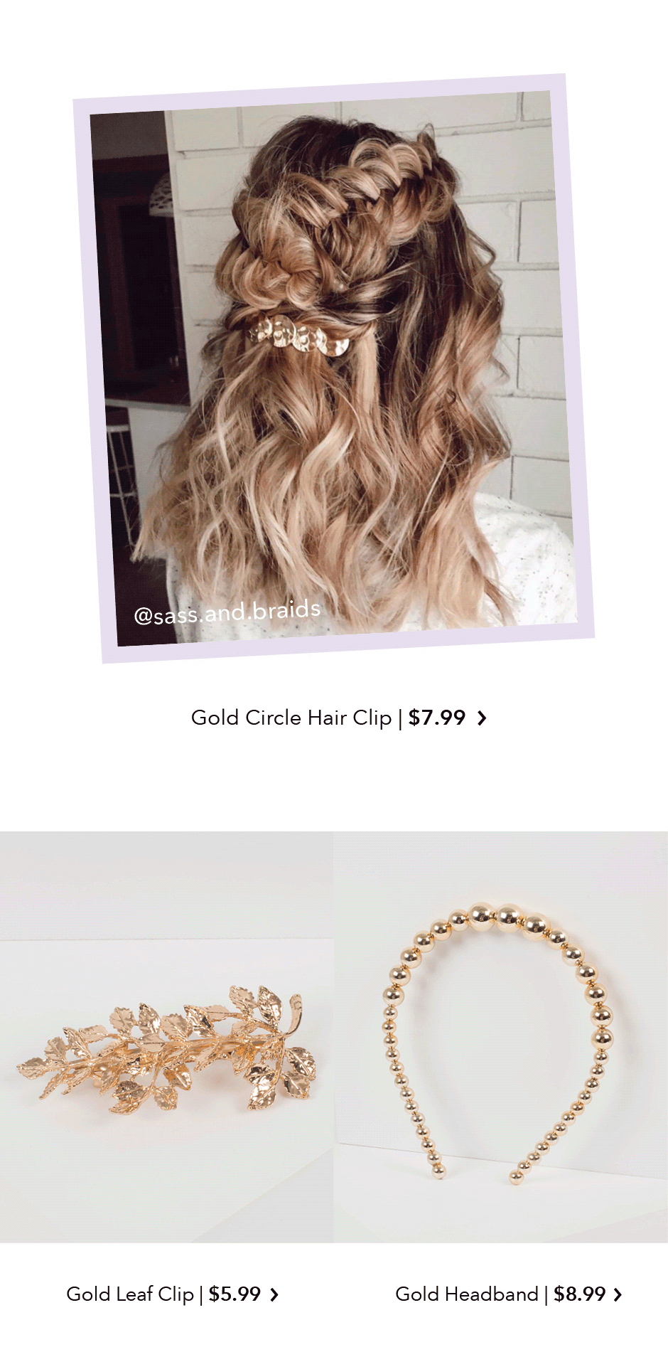Shop Gold Hair