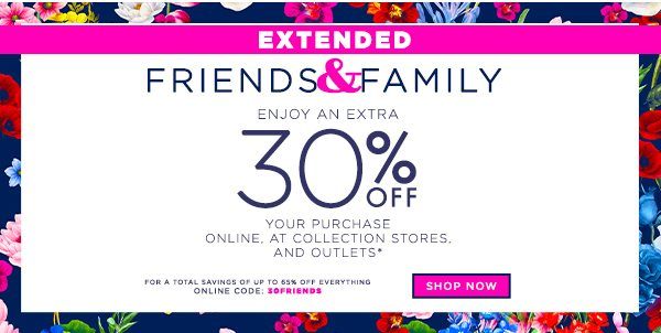 Extended - Friends and Family with Extra 30% OFF Your Order
