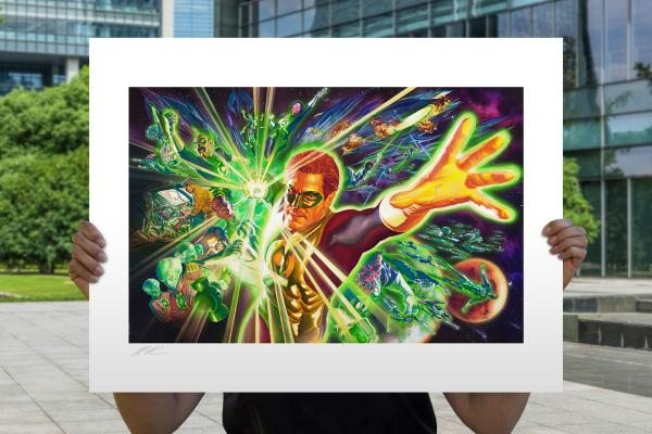 The Green Lantern Corps Fine Art Lithograph by Alex Ross