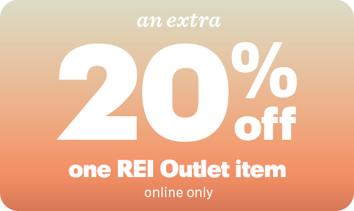 an extra 20 percent off one REI Outlet item (online only)