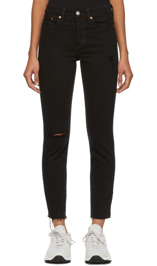 Levi's - Black Wedgie Fit Icon Jeans