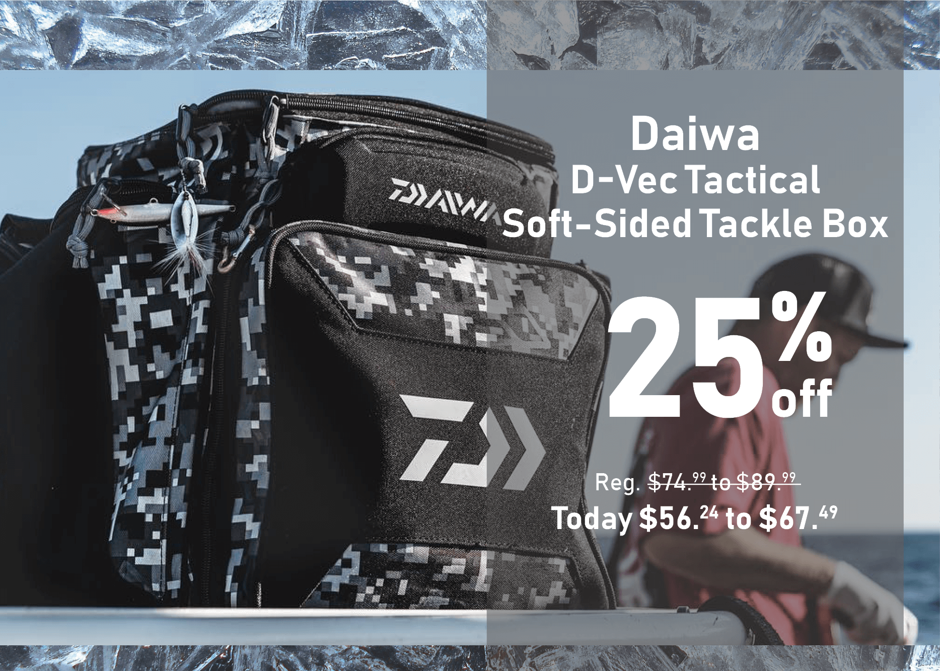 Save 25% on the Daiwa D-Vec Tactical Soft-Sided Tackle Box
