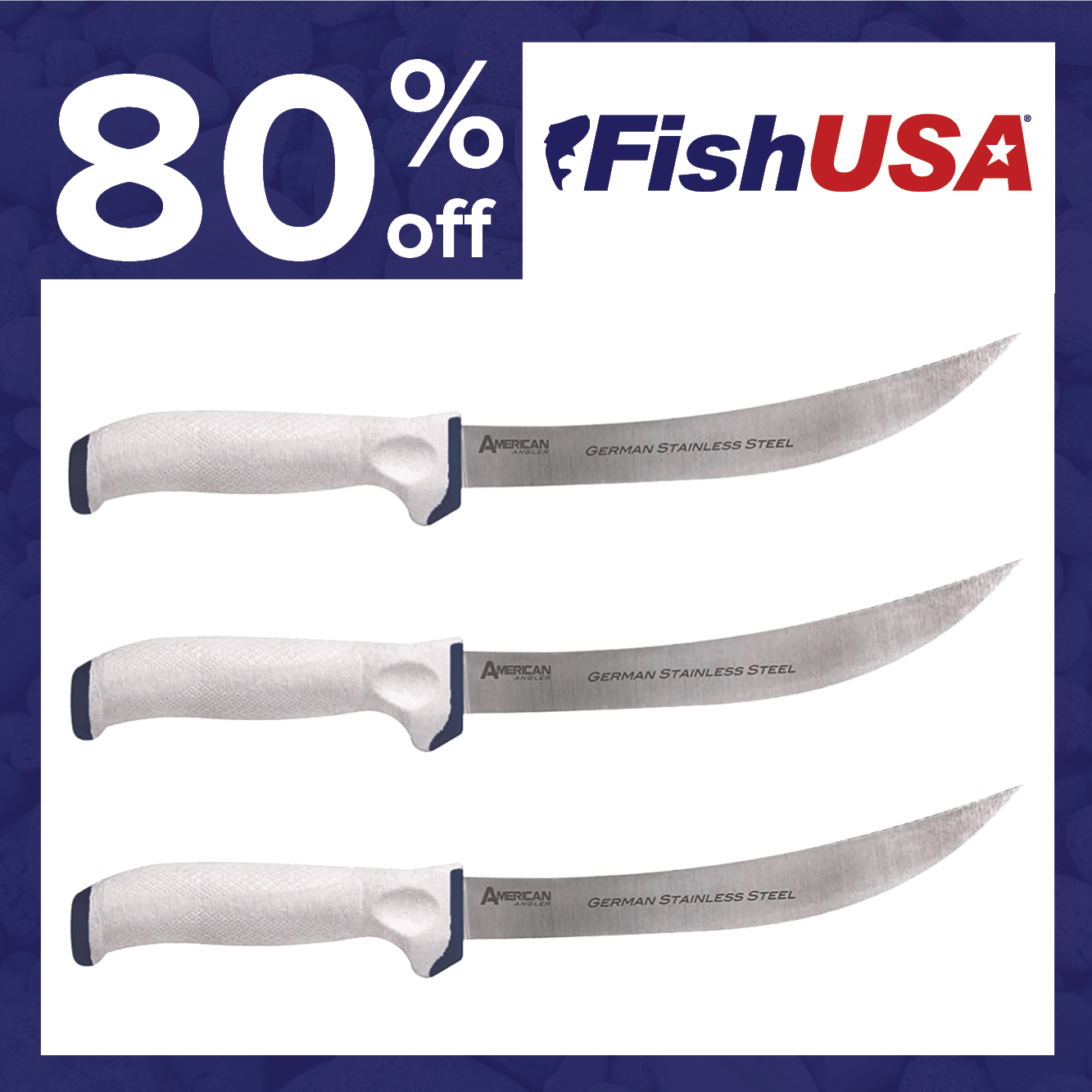 Take 80% off the American Angler Delta 8 in. Breaking Knife