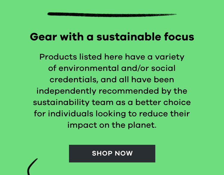 Gear with a sustainable focus | Shop now