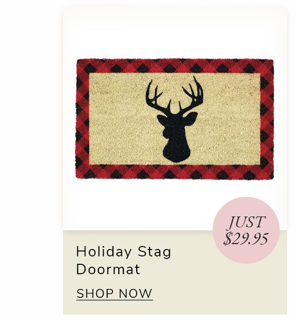 Holiday Stag Doormat | SHOP NOW