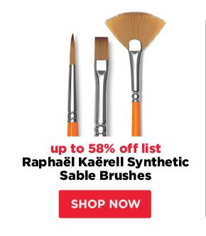 Raphael Kaerell Synthetic Sable Brushes - up to 58% off list