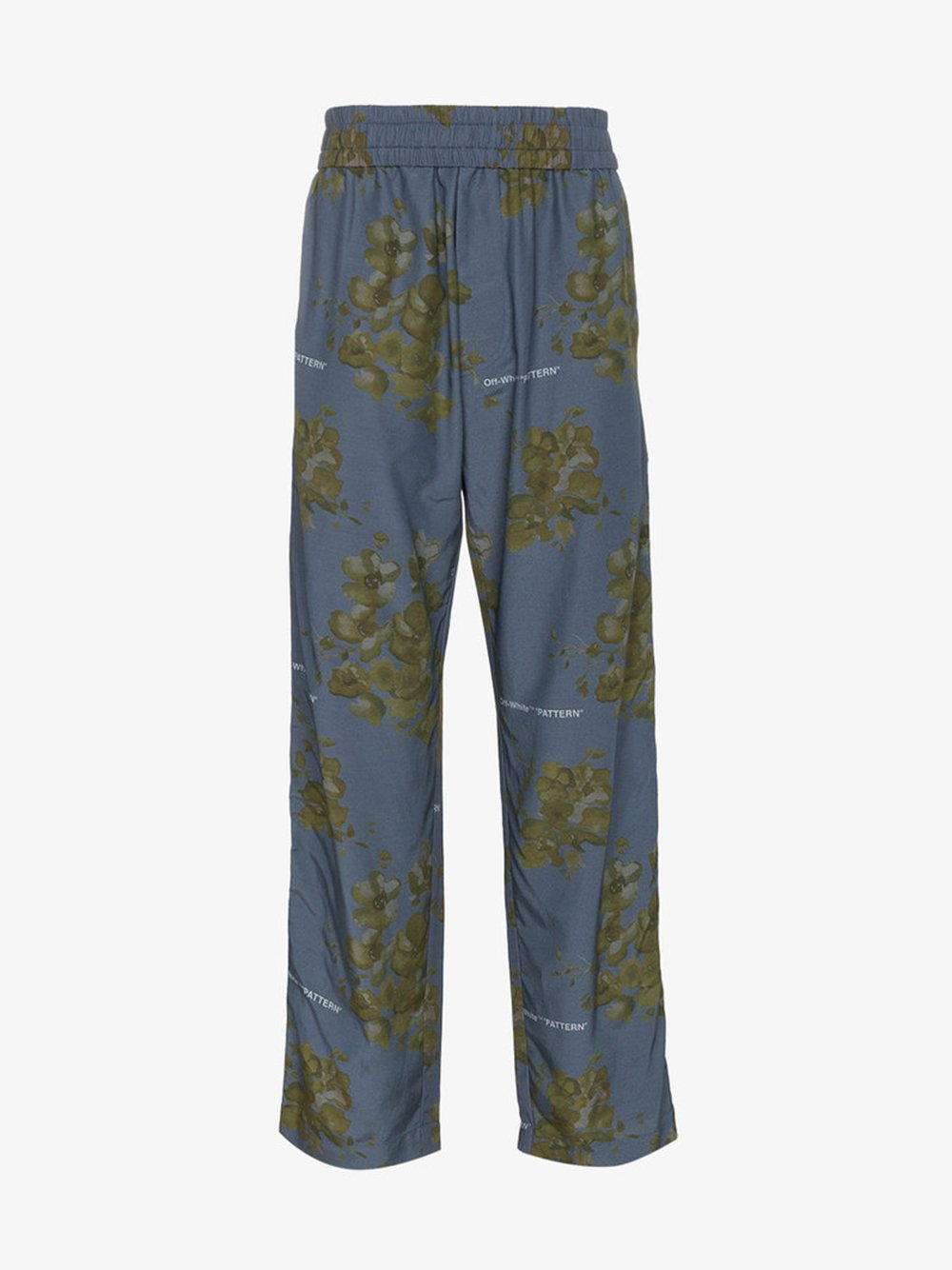 4ac4ceb92433 Off-White · X Browns Blue Floral Print Cotton Blend Trousers