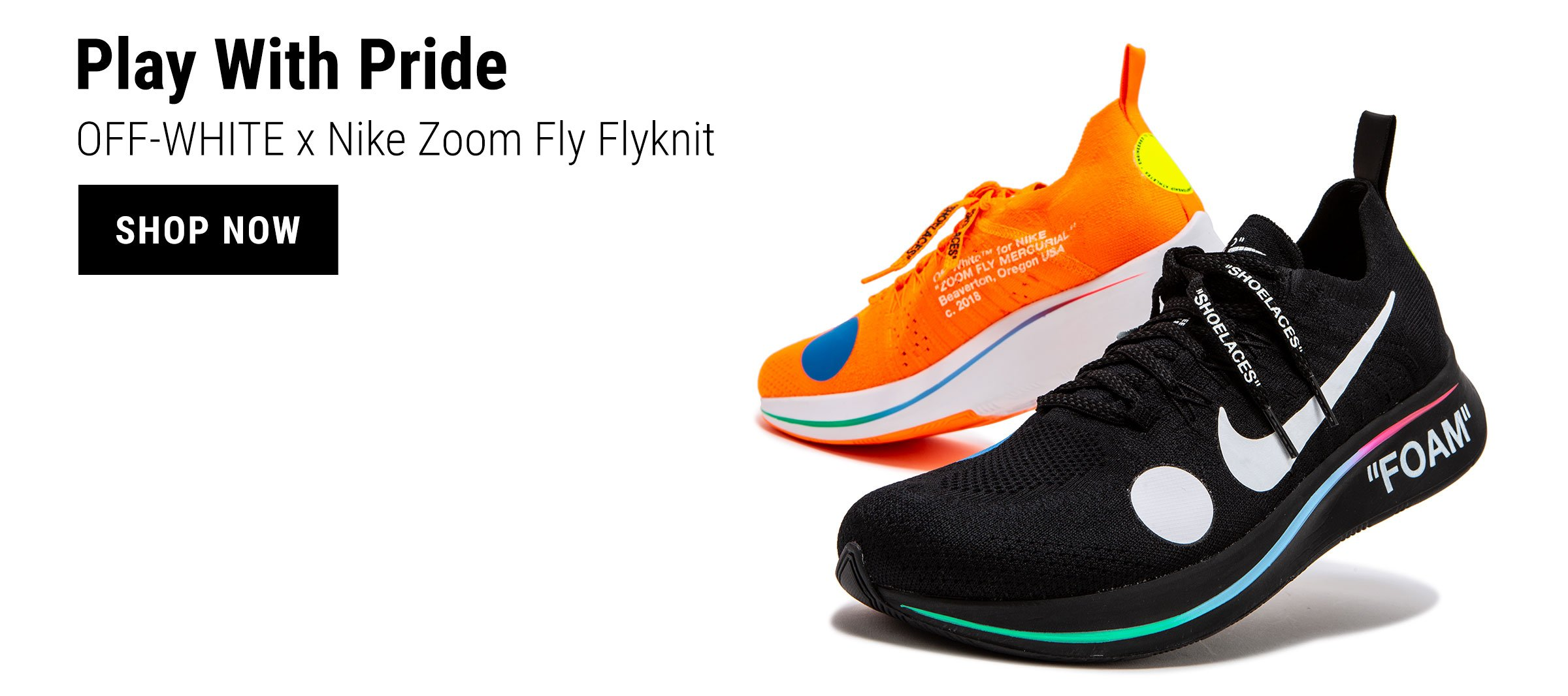 new product 6f497 3d99b OFF-WHITE x Nike Zoom Fly Flyknit